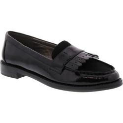 Women's Bellini Dapper Fringe Loafer Black Patent/Microsuede