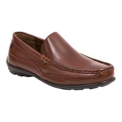 Boys' Deer Stags Booster Moc Toe Loafer Dark Luggage Brown Simulated Leather