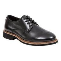Boys' Deer Stags Denny Plain Toe Oxford Black Simulated Leather