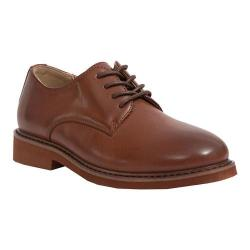 Boys' Deer Stags Denny Plain Toe Oxford Dark Luggage Brown Simulated Leather