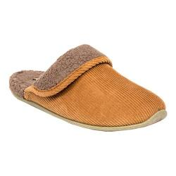 Men's Deer Stags Wail Clog Slipper Tan Corduroy Fabric