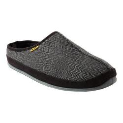 Men's Deer Stags Wherever Clog Slipper Black Tweed Polyester Fabric (More options available)