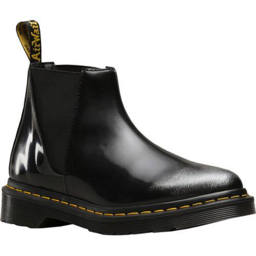 Shop Women s Dr. Martens Bianca Low Shaft Chelsea Boot Silver Arcadia Rub- Off Leather - Free Shipping Today - Overstock - 17801333 a4eaa760e7