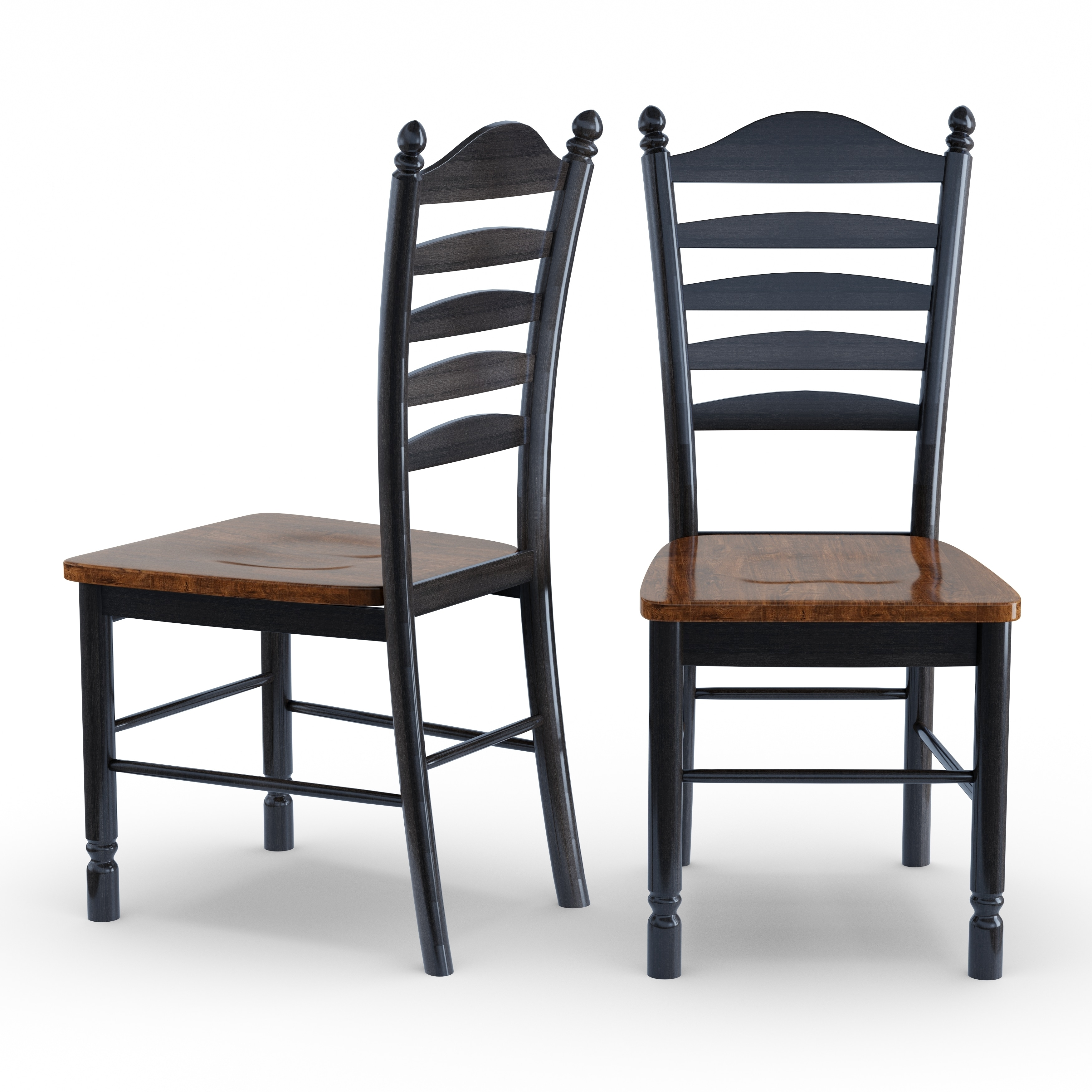 Gracewood Hollow Sarah Solid Wood Tall Ladderback Chairs (Set Of 2)   Free  Shipping Today   Overstock.com   12356979