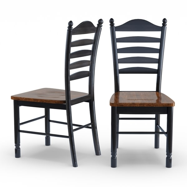Superbe Solid Wood Tall Ladderback Chairs (Set Of 2)