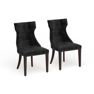 Gracewood Hollow Sibley Velvet Dining Chairs (Set of 2)