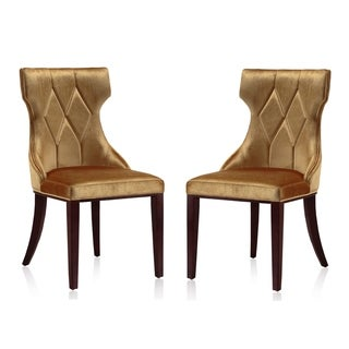 Silver Orchid Fontan Velvet Dining Chairs (Set of 2)