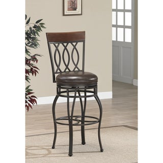 Gracewood Hollow Fitzgerald 34-inch Swivel Bar Stool