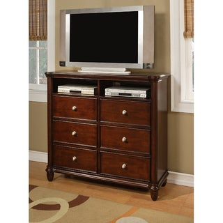 Gracewood Hollow Keyes Wooden Media Chest