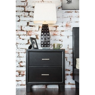 Contemporary Elrich 2-Drawer Night Stand