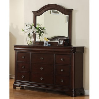 Gracewood Hollow Bujalski Cherry Dresser & Mirror Set