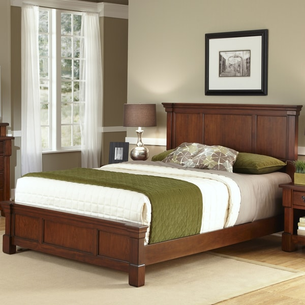The Aspen Collection Rustic Cherry Queen Bed by Home Styles