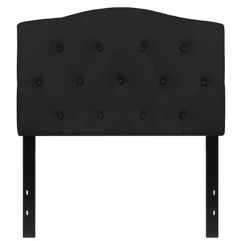 Medford Twin Size Black Fabric Upholstered Tufted Headboard