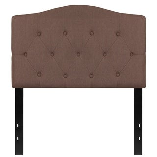 Medford Twin Size Camel Fabric Upholstered Tufted Headboard