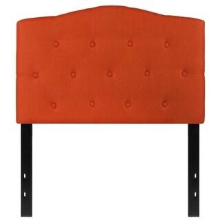 Medford Twin Size Orange Fabric Upholstered Tufted Headboard