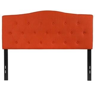 Medford Full Size Orange Fabric Upholstered Tufted Headboard