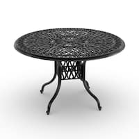 Havenside Home Boothbay Floral Blossom 48-inch Round Dining Table