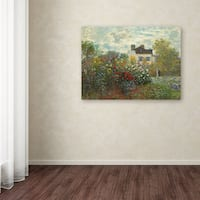 Gracewood Hollow Claude Monet 'The Artist's Garden In Argenteuil' Canvas Art