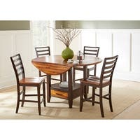 Copper Grove Warkworth Acacia 5-piece Counter Height Lazy Susan and Storage Dining Set