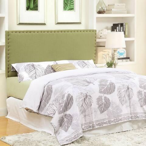 Mendlesohn Traditional Ivory Adjustable Upholstered Headboard by FOA