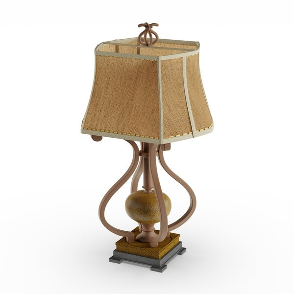 Gracewood Hollow Mark Metal Scroll Table Lamp