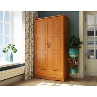 gracewood hollow siddartha universal solid wood customizable wardrobe - Wardrobe Closet