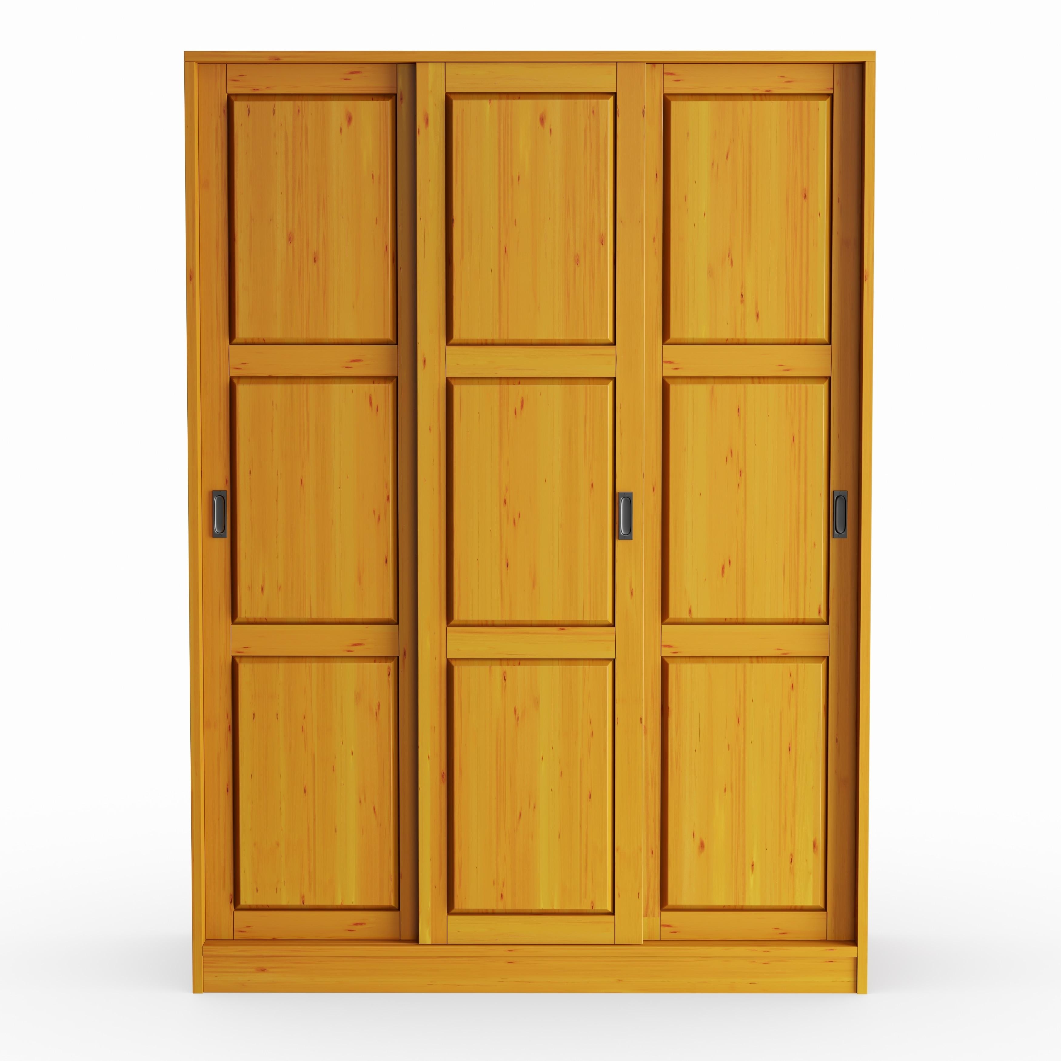 sports shoes 8efa4 d6444 Copper Grove Caddo Customizable Solid Pine Three Sliding Door Wardrobe