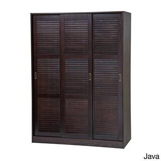 Gracewood Hollow Siddartha Customizable Solid Pine Three Sliding Door Wardrobe (3 options available)