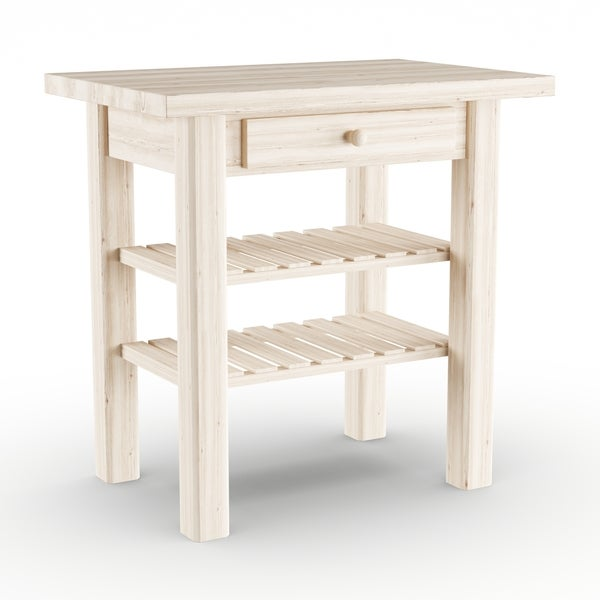 Unfinished Kitchen Island: Shop The Gray Barn Heavenly Winds Unfinished Solid