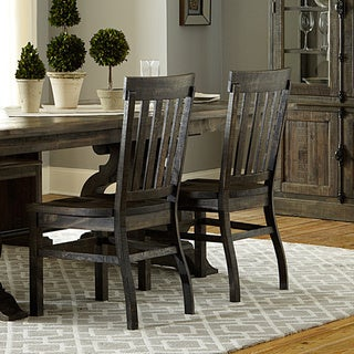 The Gray Barn Brees Aged Wood Dining Chair (Set of 2)
