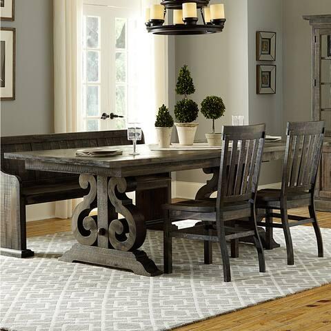 The Gray Barn Kornfeld Aged Wood Rectangular Dining Table