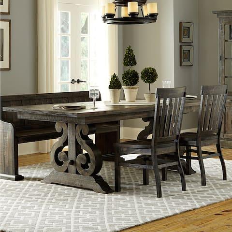 Gracewood Hollow Barbara Aged Wood Rectangular Dining Table