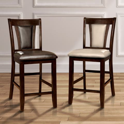 Furniture of America Dionne Cherry Counter Height Stool (Set of 2)