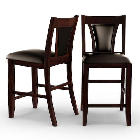 Copper Grove Hyacinth Dark Cherry 25.75-inch Counter-height Stool (Set of 2)