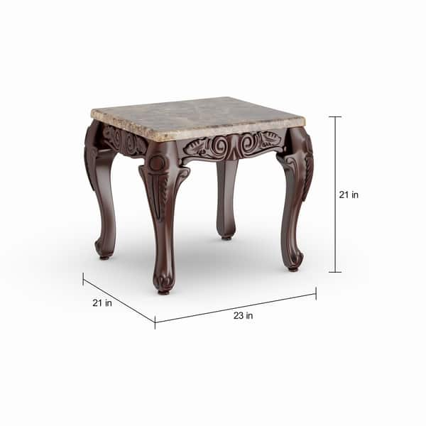Shop Furniture Of America Traditional Carnes 3 Piece Accent Table