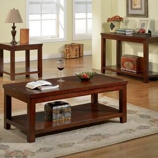 Copper Grove Bowron Dark Cherry Coffee Table