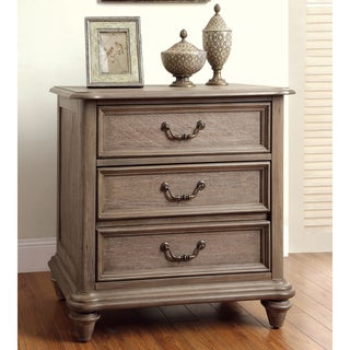 Furniture of America Rusi Rustic Grey Solid Wood 2-drawer Nightstand