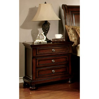 Gracewood Hollow DeLint Cherry 3-drawer Nightstand