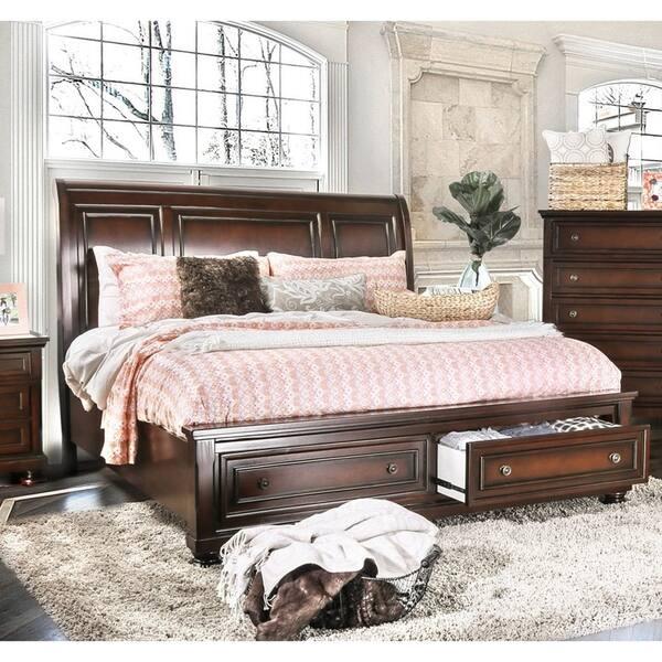 Shop Furniture of America Embu Traditional Cherry Solid Wood ...