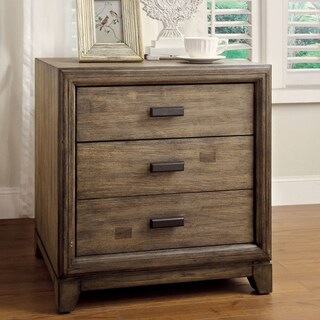 Gracewood Hollow Sherwood Rustic Natural Ash 3-drawer Nightstand