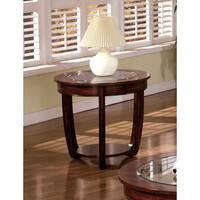 Copper Grove Penstemon Curved Dark Cherry End Table