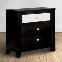 Furniture of America Divonne Modern Black 3-Drawer Nightstand