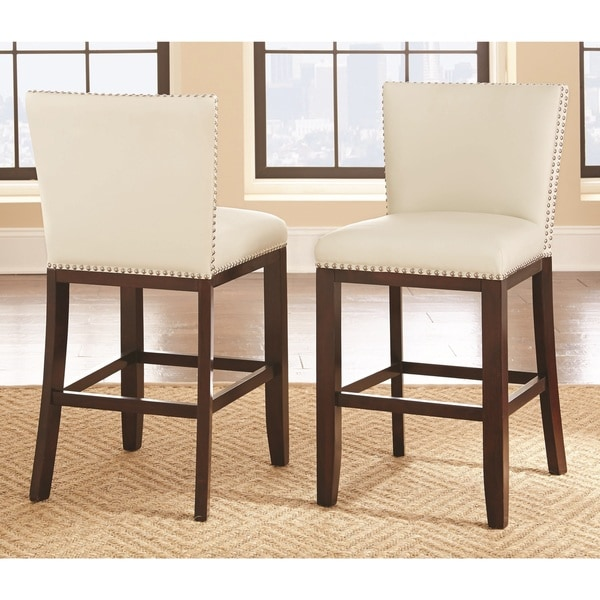 Copper Grove King's Mill 30-inch Faux Leather Bar Stool (Set of 2)