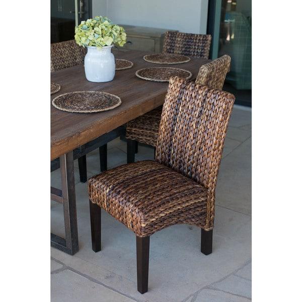 Genial Gracewood Hollow Hemingway Seagrass Dining Chair (Set Of 2)
