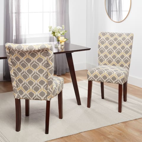 Furniture of America Patterned Parson Upholstered Side Chairs (Set of 2)