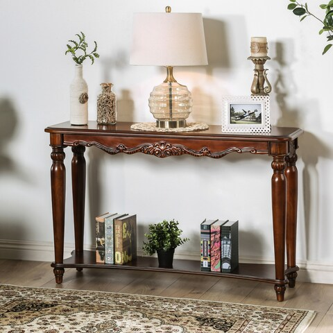 Gracewood Hollow Mieville Traditional Cherry Sofa Table