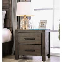 Gracewood Hollow Isobelle Transitional Wire-Brushed Brown 2-drawer Nightstand