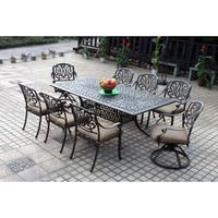Havenside Home Wares Bronze Cast Aluminum Rectangular 9-piece Dining Set