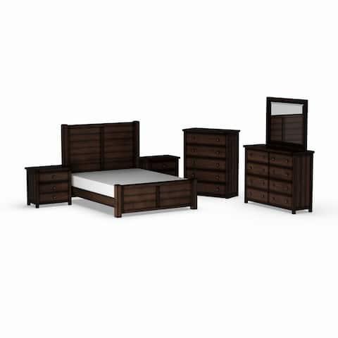 Carbon Loft Plumas Queen Panel 6-piece Bedroom Set