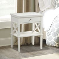 Gracewood Hollow Salinger Wooden Nightstand with Lower Shelf